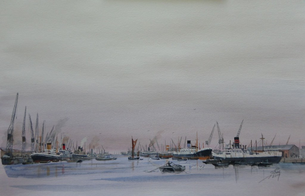 Based on King George V dock London in the 50s-60s