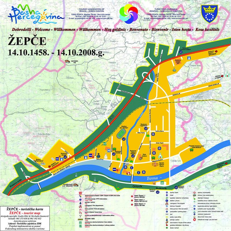 Туристическая карта Жепче