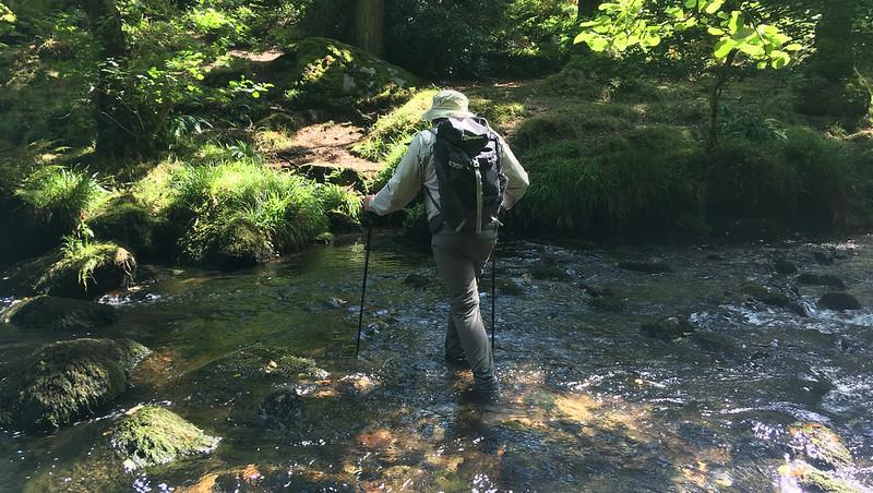 Paul Buck crossing the Meavy