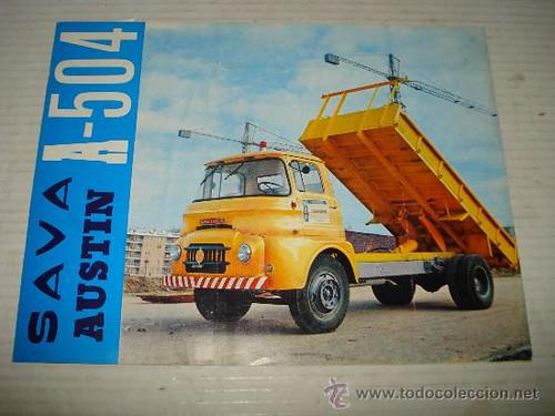 portada catàleg camió Sava BMV A-504 1964 MOPU