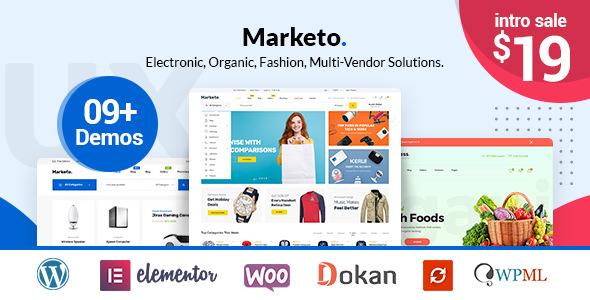Marketo v1.0.5 – ECommerce & Multivendor Theme