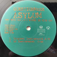 QUESTIONMARK ASYLUM:GET WITH YOU:I'D RATHER BE WITH YOU(LABEL SIDE-B)
