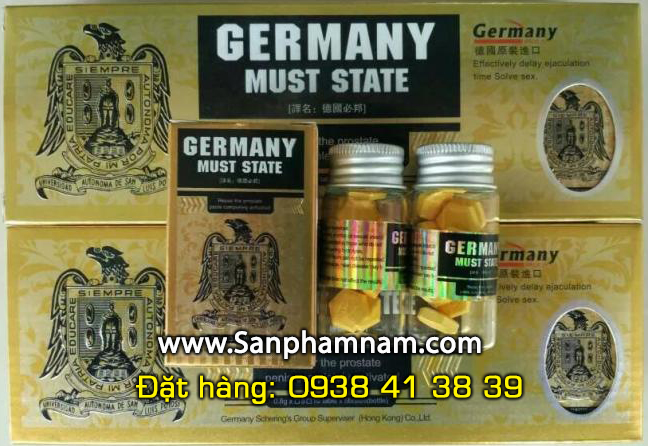 thuoc cuong duong, xuat tinh som, yeu sinh ly, Germany Must State 8000mg