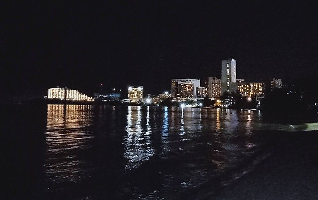 飯店沙灘夜景