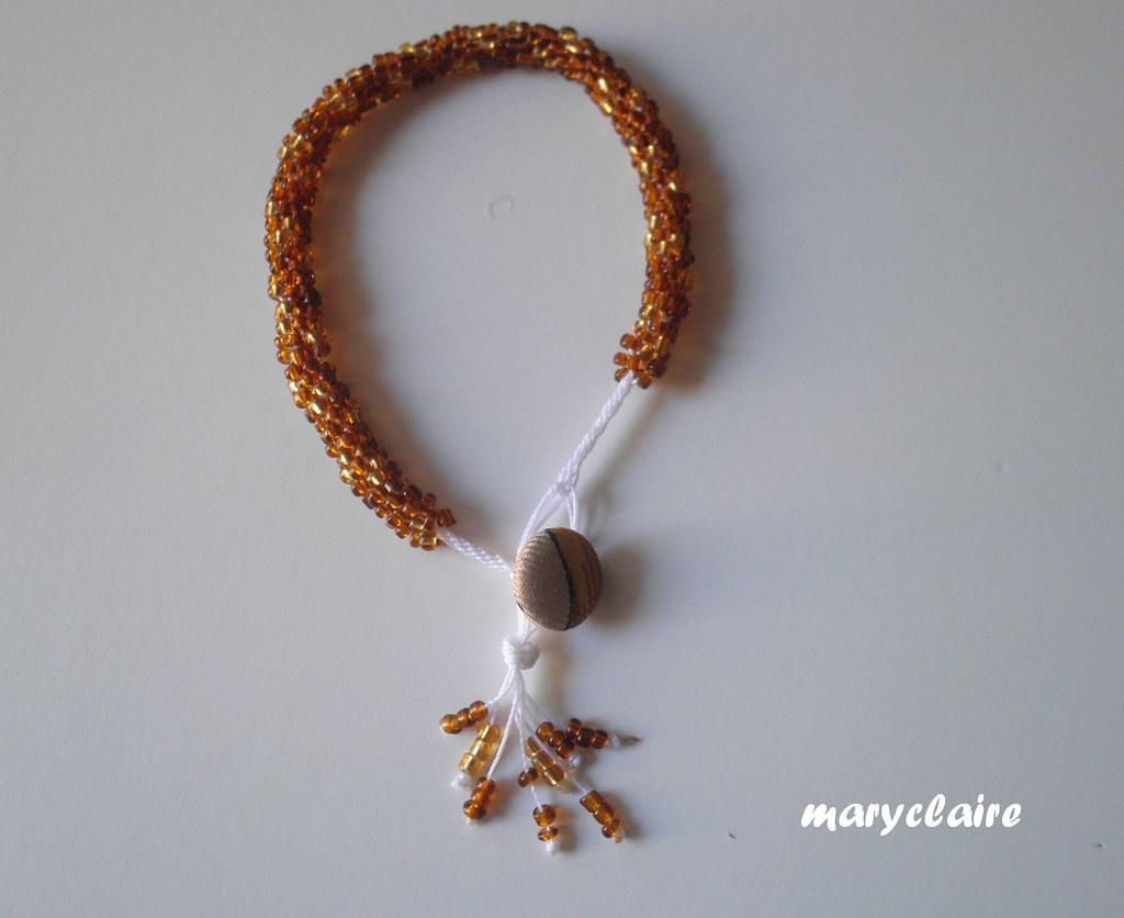 braccialetto marrone e oro2a
