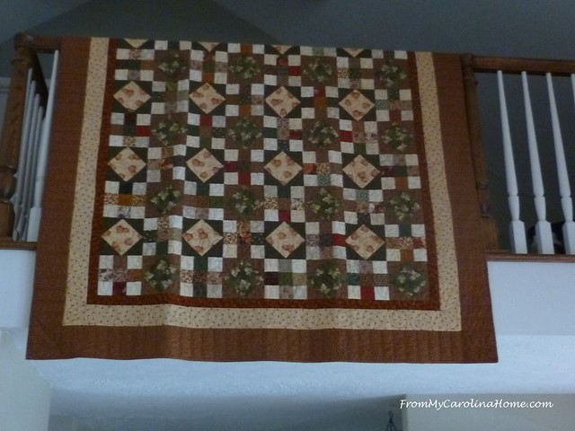 Autumn Decorating with Quilts at FromMyCarolinaHome.com