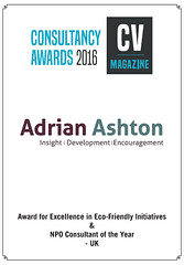 CV Magazine non-profit consultant of the year, and leading excellence in eco-friendly initiatives 2016