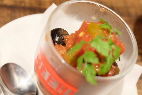ブラックオリーブのサルサ和え Salsa Black Olives