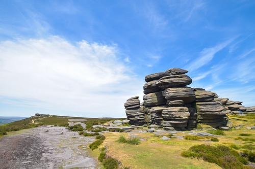 Bamford via Derwent Edge walk, Peak District - Wheel Stones