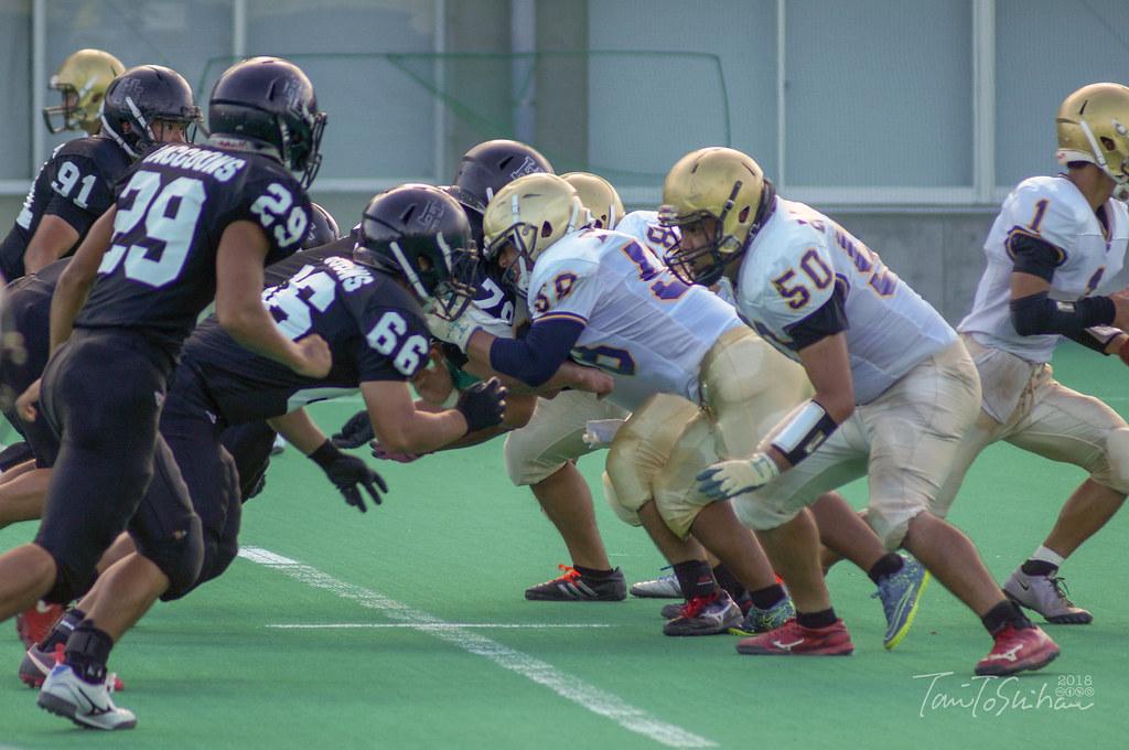 中四国学生アメリカンフットボールリーグ2018 広島大27ー0愛媛大