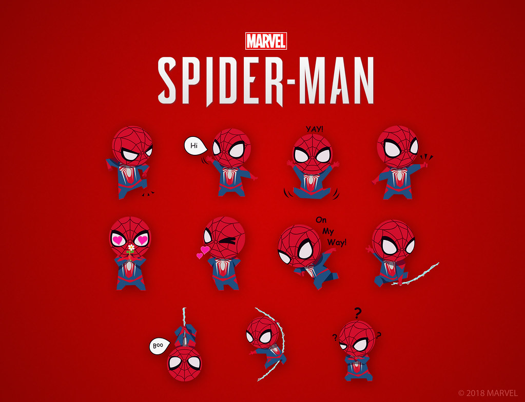 Marvel's Spider-Man: iOS Sticker Pack