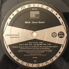 MILK:NEVER DATED(LABEL SIDE-B)