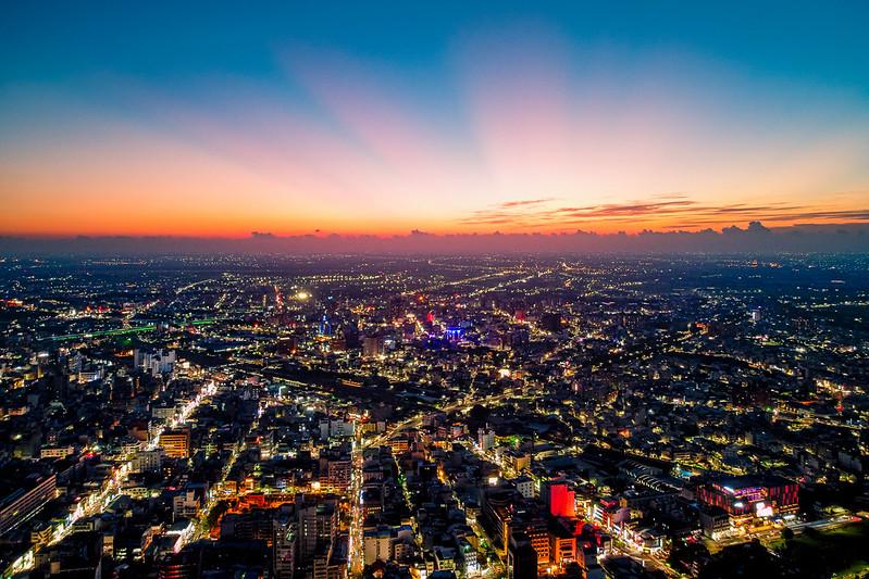 Sunset Chiayi city