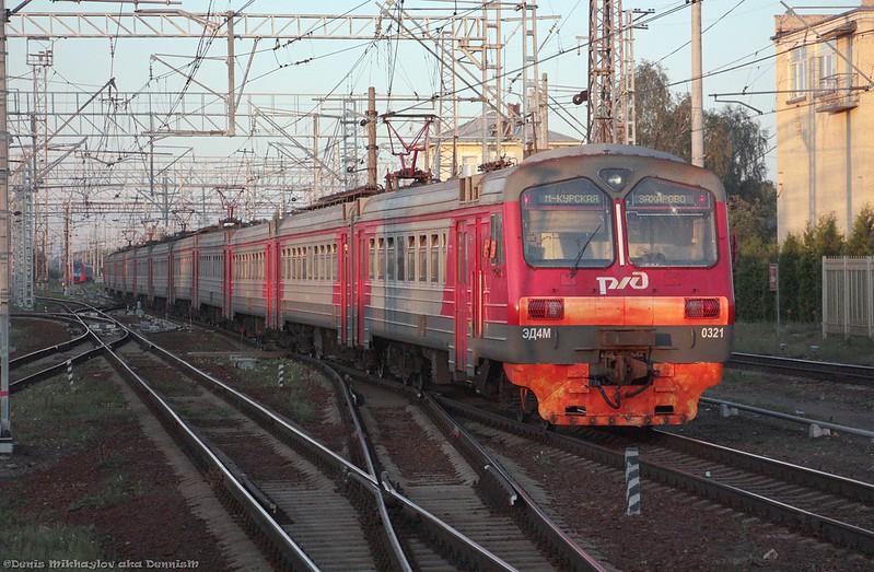 Электропоезд ЭД4М-0321.