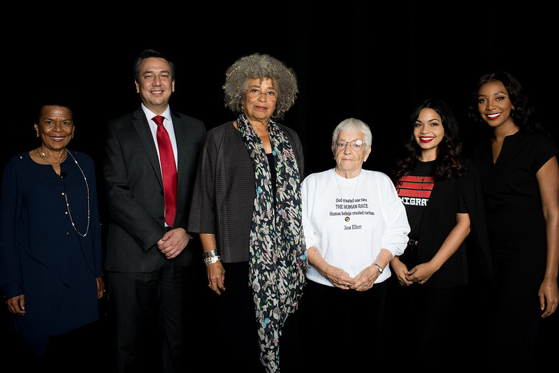 Social Justice Solutions 2018: A Conversation on Race & Privilege w- Angela Davis and Jane Elliott