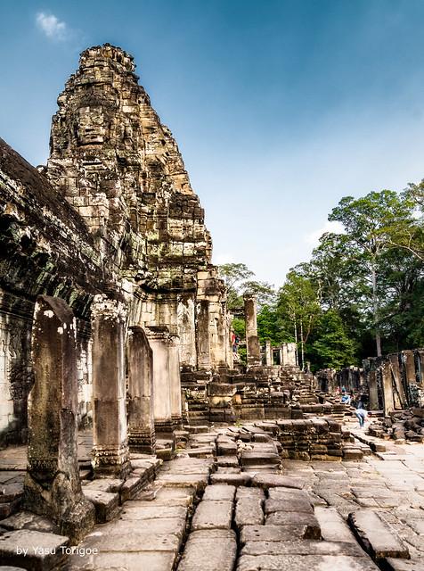 Ruins of Bayon Temple, Angkor, Cambodia-15a