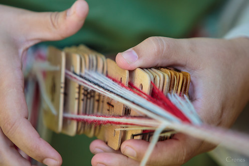 Pomezná - Tablet weaving