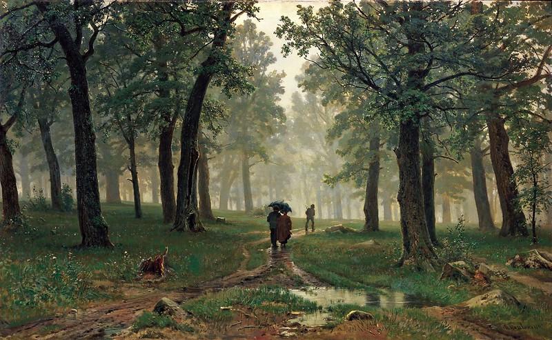 Ivan Shishkin - Rain in an Oak Forest (1891)
