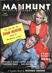 Manhunt Detective Story Monthly Vol. 3, No. 7 (July, 1955). Cover Art by Robert Maguire. Digest size.