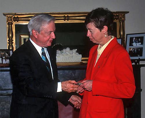 Gov. Jim Hunt and Mary Anne Fox