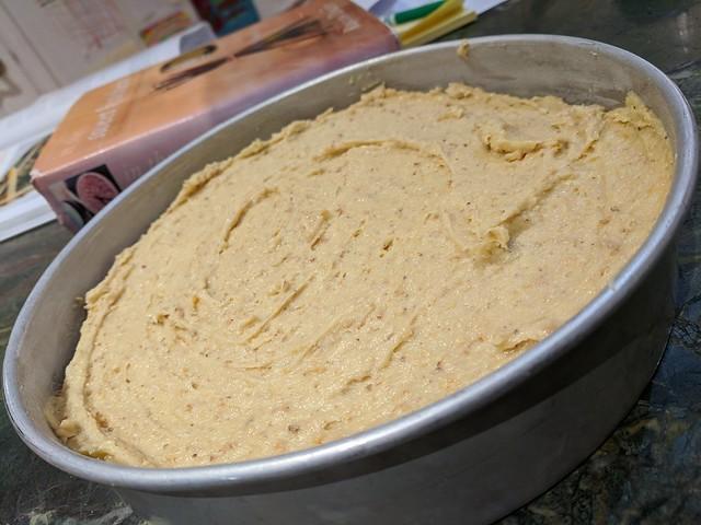 Hazelnut Pound Cake Batter