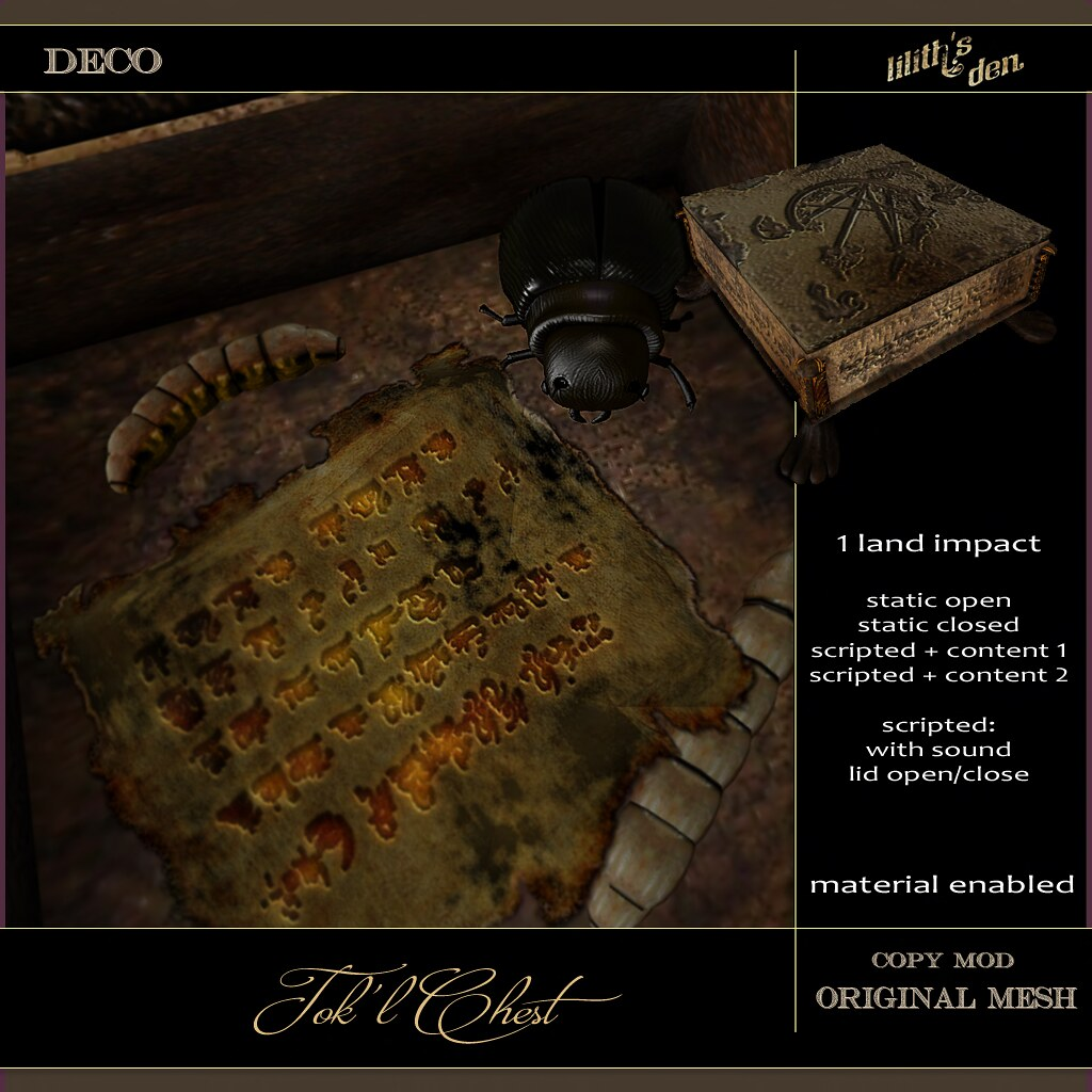 Lilith's Den -  Tok'l Chest - TeleportHub.com Live!