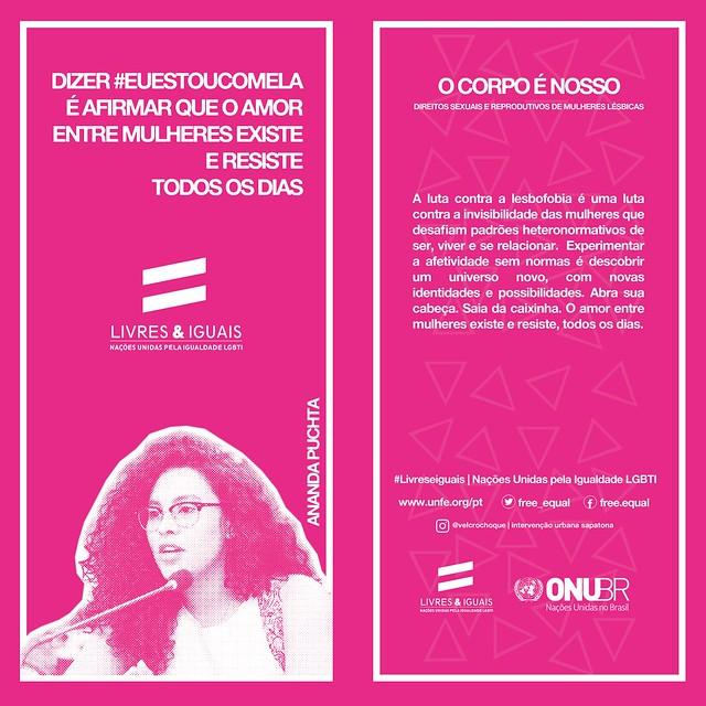 Cartões sobre o Dia Nacional da Visibilidade Lésbica