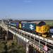 37424 crosses Reedham swing bridge working 2J67 0747 Lowestoft - Norwich 31/8/2018