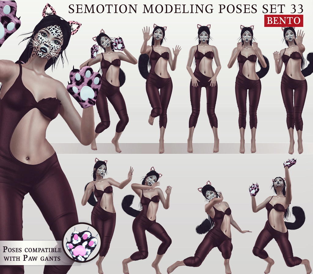 SEmotion Female Bento Modeling poses Set 33