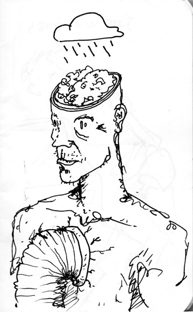 lluvia cerebro, tubo en pecho