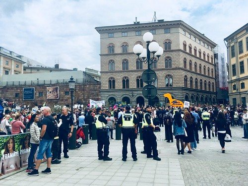 people's climate march, stockholm, sweden, sept 8, 2018