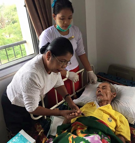 Daw Than Myint Aung stresses that kindness and compassion are key to building a loving and caring environment. (Courtesy of Twilight Villa)