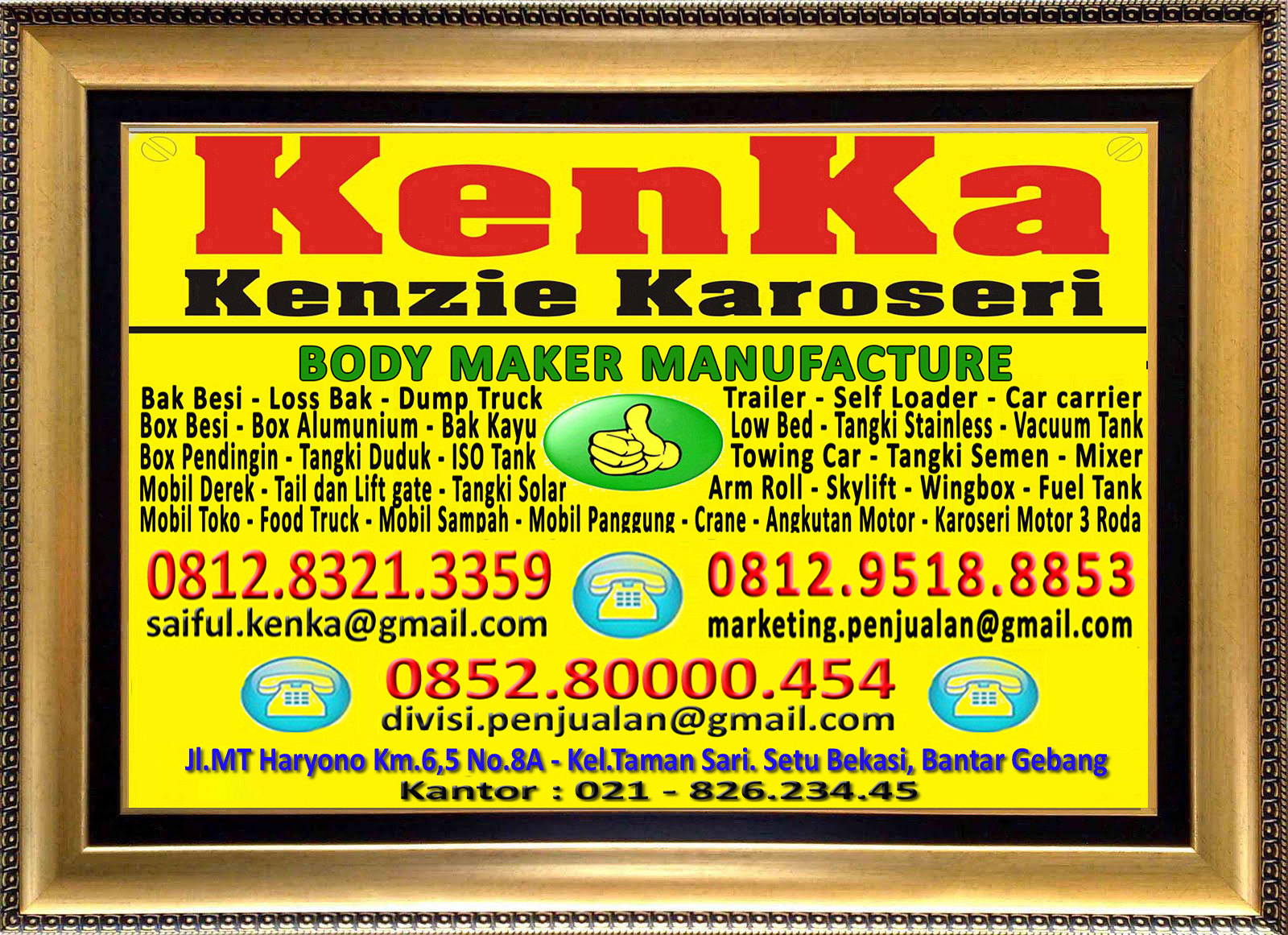 Karoseri Mobil & Truck KenKa - Saiful - Susi - Thamrin