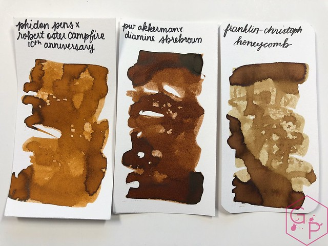 Robert Oster Campfire Ink Review for Phidon Pens 10th Anniversary 21