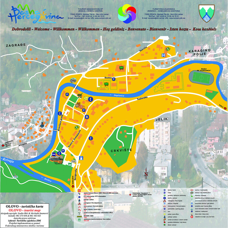 Туристическая карта Олова