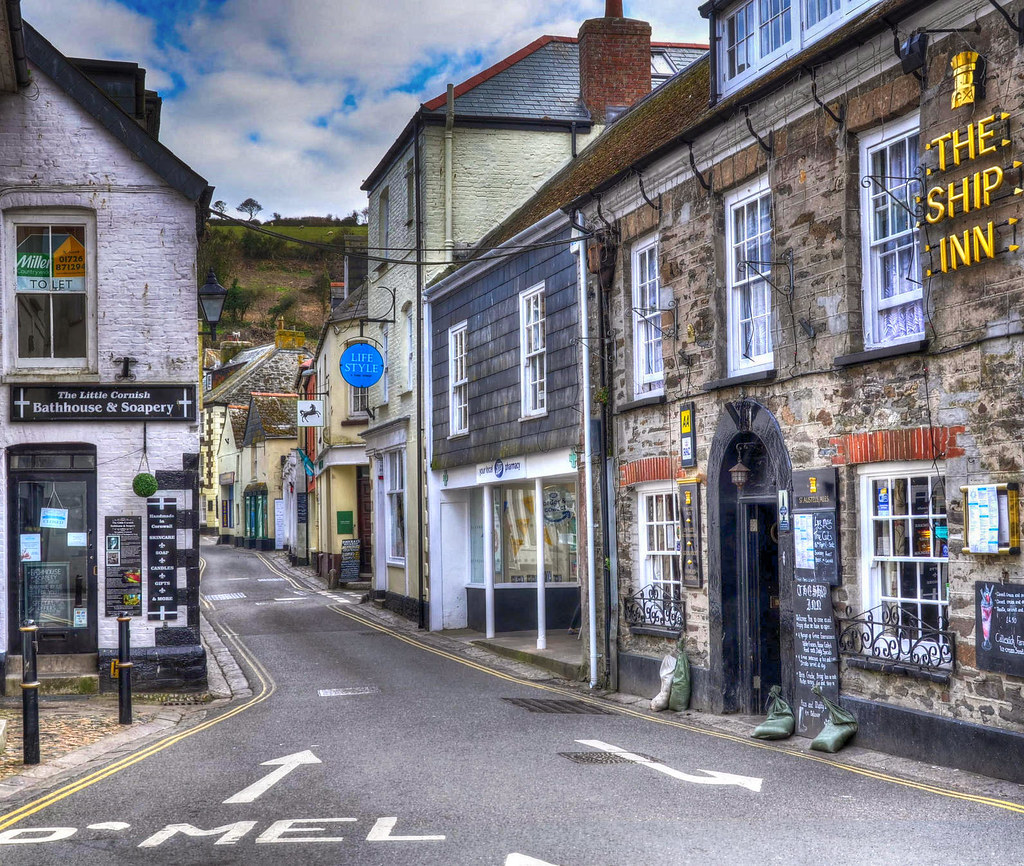 Fore Street in Mevagissey, Cornwall. Credit Baz Richardson, flickr