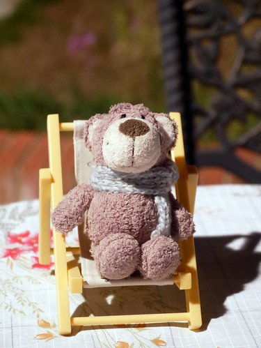 Ted Relaxing on the Patio