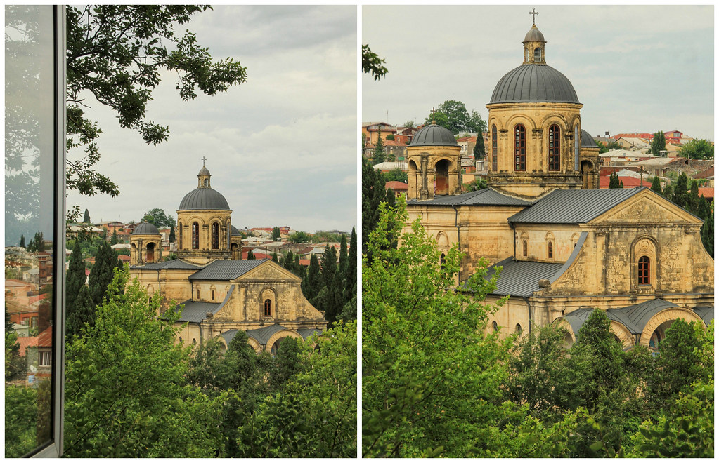 View of Khareba Church from Sun Guesthouse in Kutaisi
