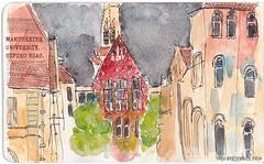 Manchester University with #uskmanchester. #usk #urbansketchers #watercolor #moleskine #eyeshootflickr