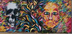 Skull face graffiti