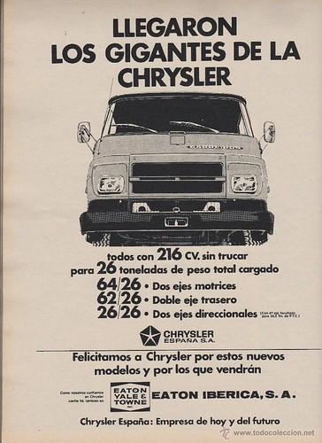 publicitat camió Barreiros 1971