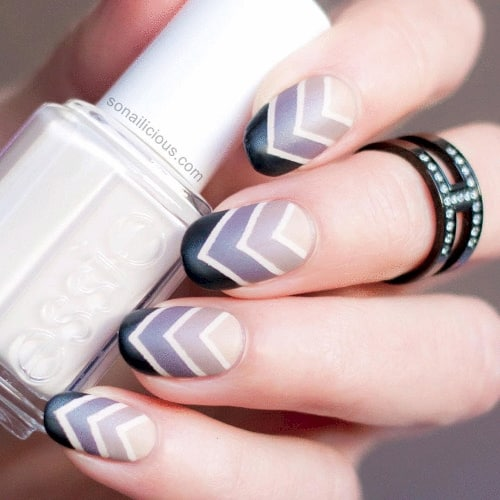 This matte chevron ombre is so cute!