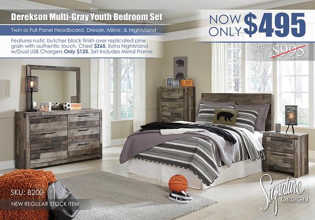 Derekson Youth Bedroom Set_B200-31-36-46-87-92-Q420