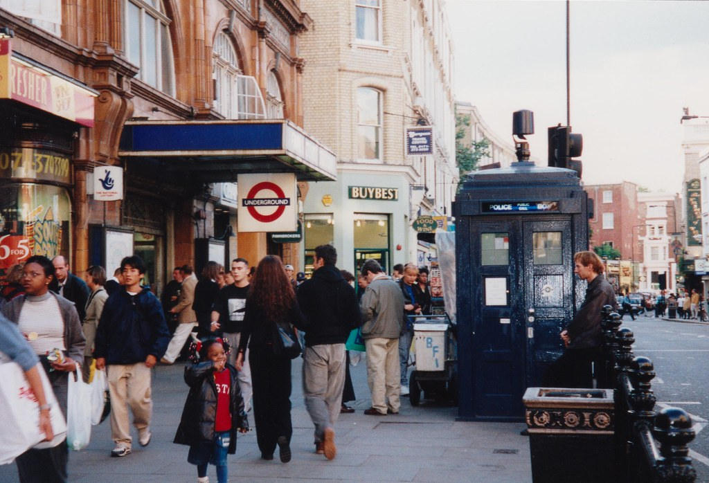Police Box at Earls Court, London, 11/9/1998