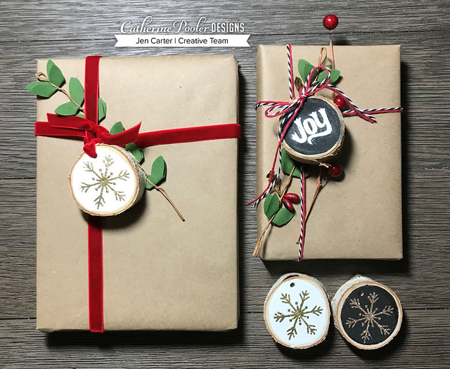 Jen Carter CP Wood Slice Ornaments grouping for PG