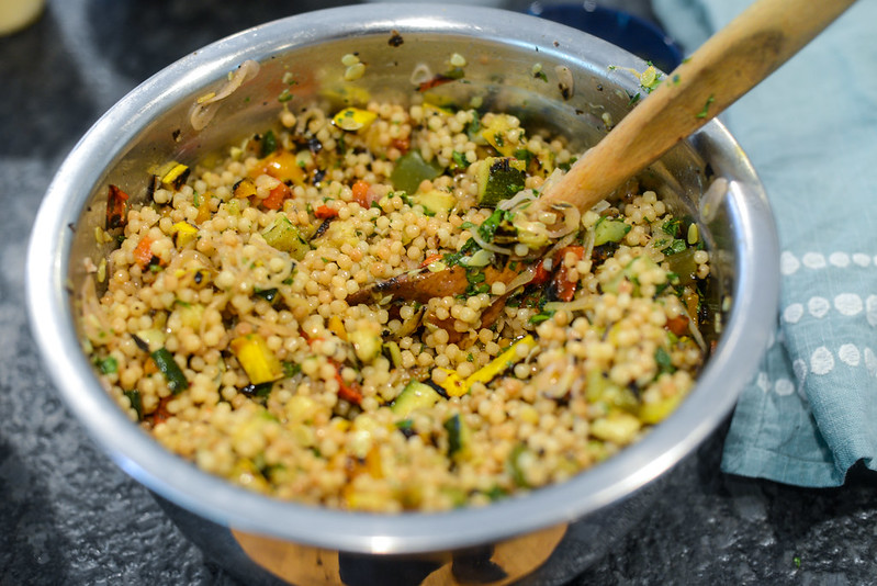 Israeli Couscous & Grilled Vegetables Salad
