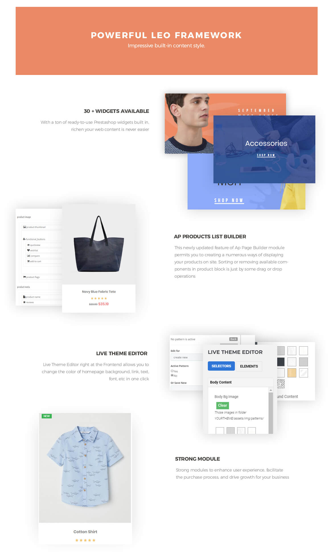 Prestasshop Framework -best fashion theme