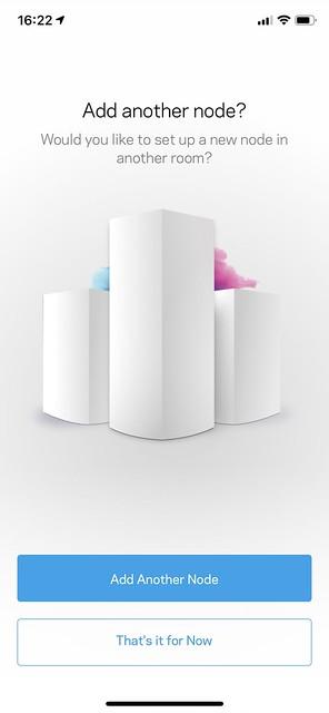 Linksys iOS App - Setup Another Node - #1