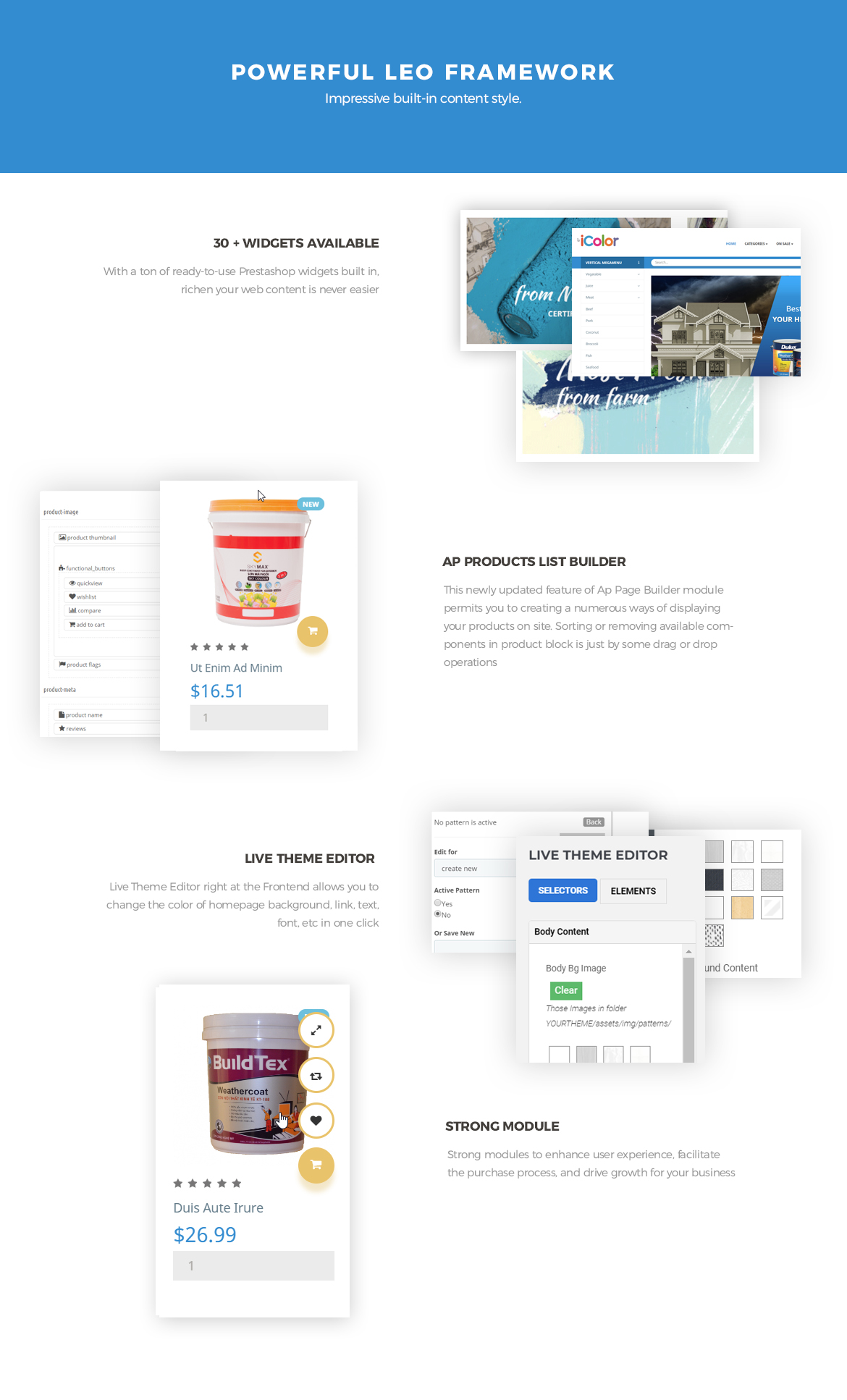 Prestashop Framework - paint website