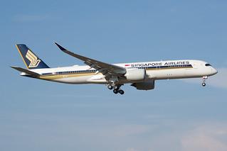 F-WZFZ / 9V-SGA - Airbus A350-941 - Singapore Airlines - msn 220